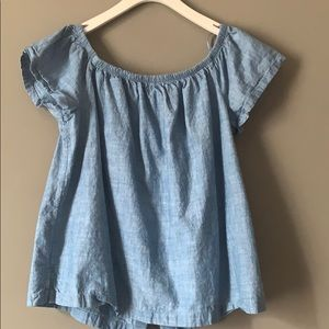 Levi's chambray off the shoulder top